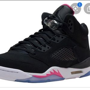 black deadly pink retro 5's